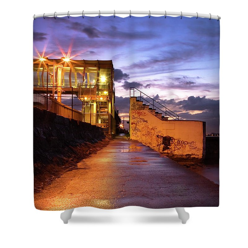 Tranquility Shower Curtain featuring the photograph Blackrock After Rain by Paula Banks