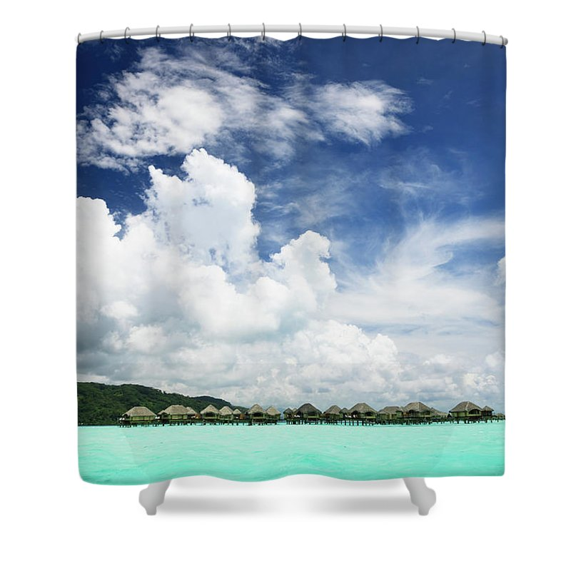 Standing Water Shower Curtain featuring the photograph Blue Lagoon Holiday Luxury Resort by Mlenny