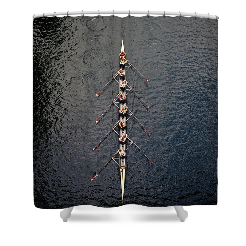 Viewpoint Shower Curtain featuring the photograph Boat Race by Fuse