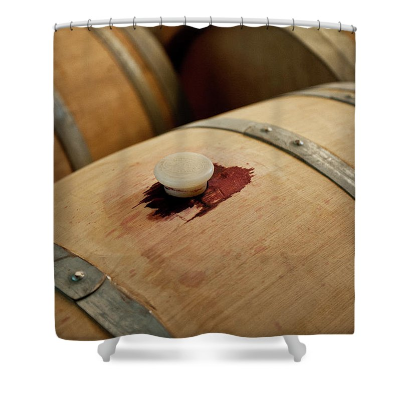Spanish Basque Country Shower Curtain featuring the photograph Bodegas Ysios Wine Cellar, Detail by Maremagnum