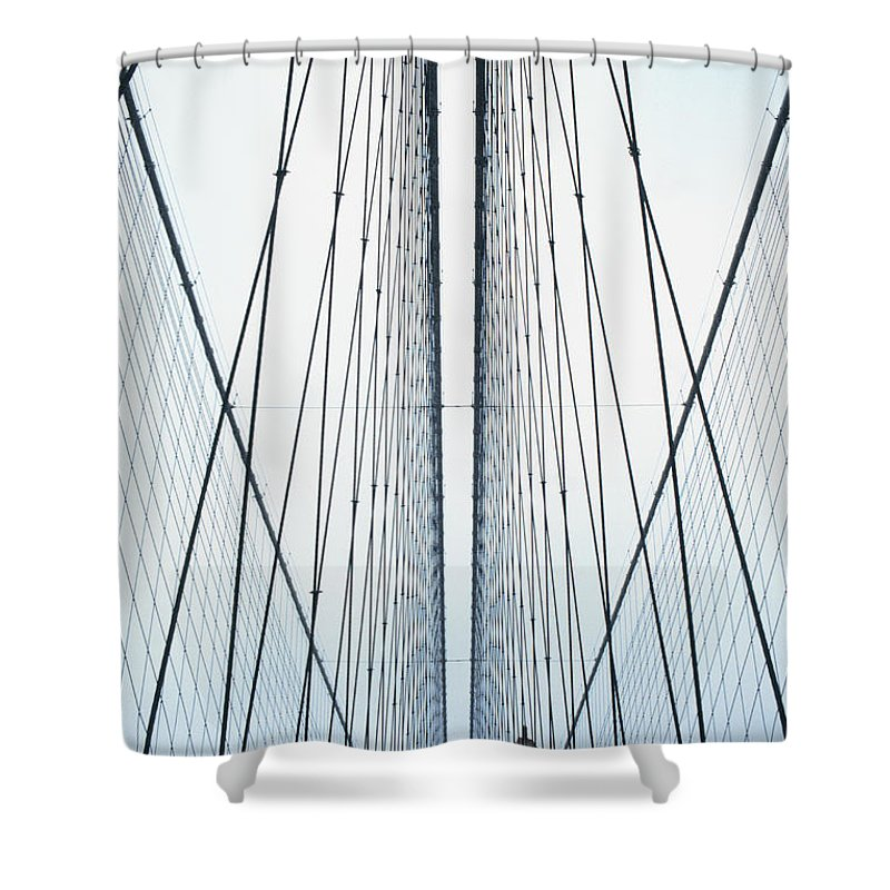 Suspension Bridge Shower Curtain featuring the photograph Brooklyn Bridge by Eric O'connell