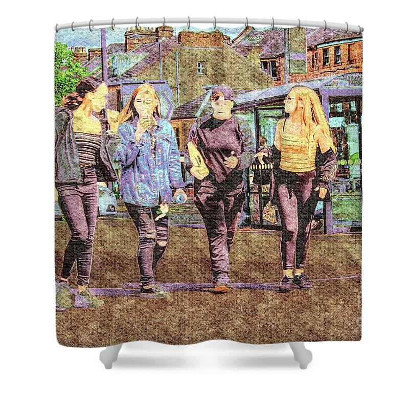 Innocence Shower Curtain featuring the photograph Buxton Innocence. by Nigel Dudson