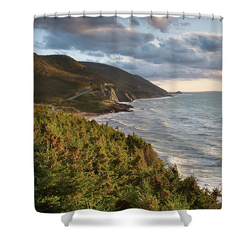 Scenics Shower Curtain featuring the photograph Cabot Trail Scenic by Shayes17