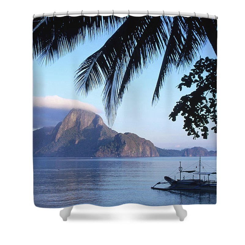 People Shower Curtain featuring the photograph Cadlao Island From El Nido, Sunrise by Dallas Stribley
