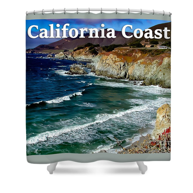 California Shower Curtain featuring the photograph California Coast In Mendocino County by G Matthew Laughton