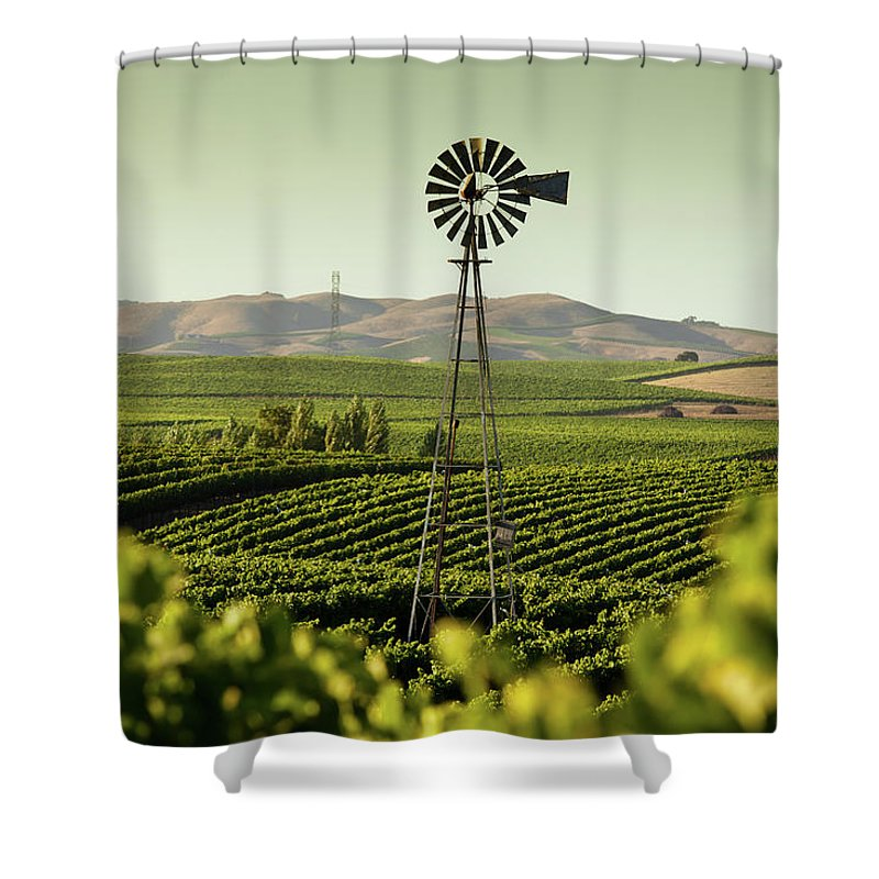 Sonoma County Shower Curtain featuring the photograph California Wine Country by Halbergman