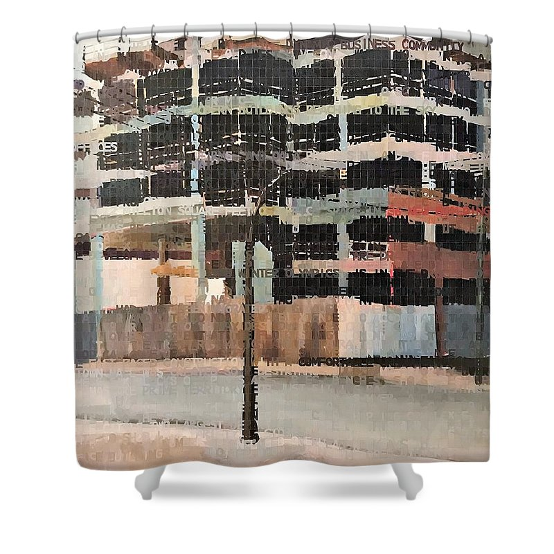 Acrylic Shower Curtain featuring the painting Capture The Spirit by Norman Burnham