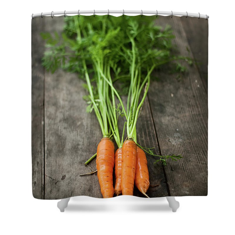 Bulgaria Shower Curtain featuring the photograph Carrot by Kemi H Photography