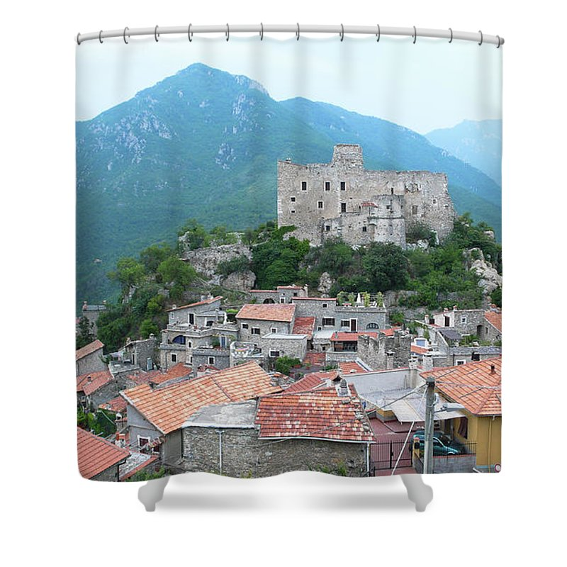 Tranquility Shower Curtain featuring the photograph Castelvecchio Di Rocca Barbena by Photo By Randi Larsen