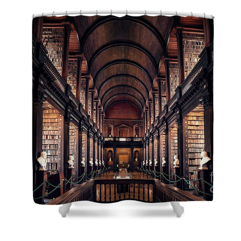 Kremsdorf Shower Curtain featuring the photograph Chamber Of Eternal Wisdom by Evelina Kremsdorf