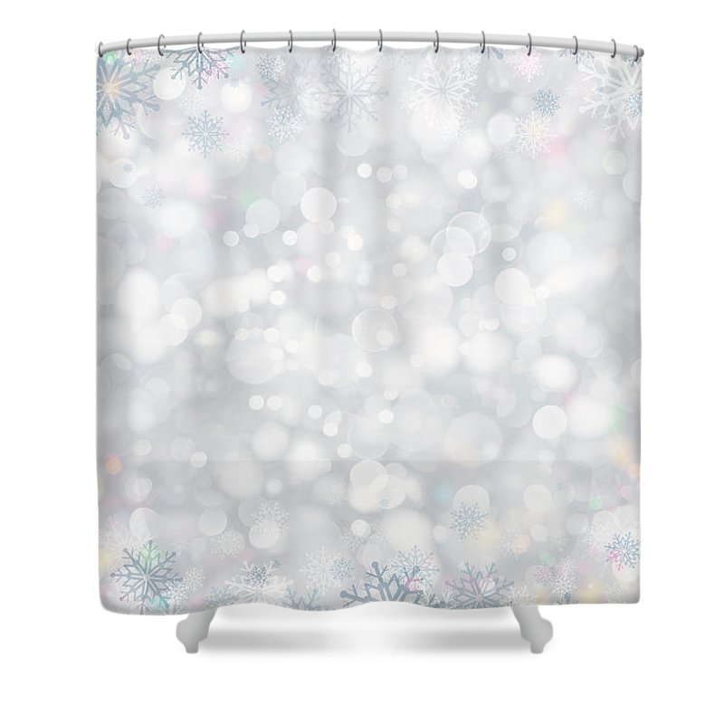 Holiday Shower Curtain featuring the photograph Christmas Background by Sbayram