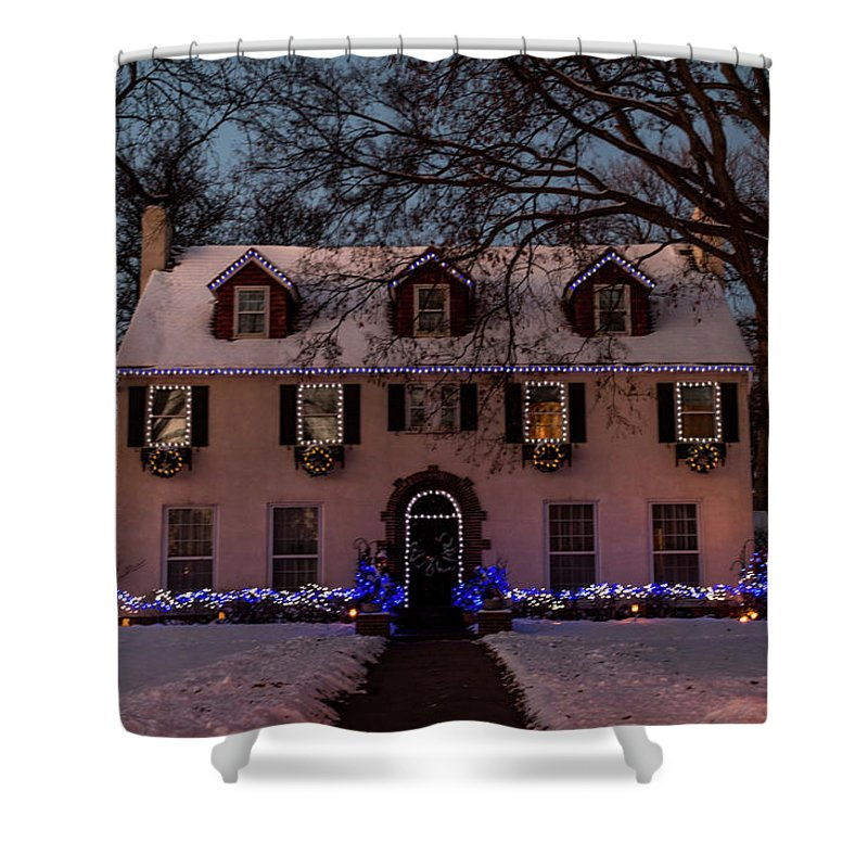 Christmas Shower Curtain featuring the photograph Christmas Lights Series #3 by Patti Deters