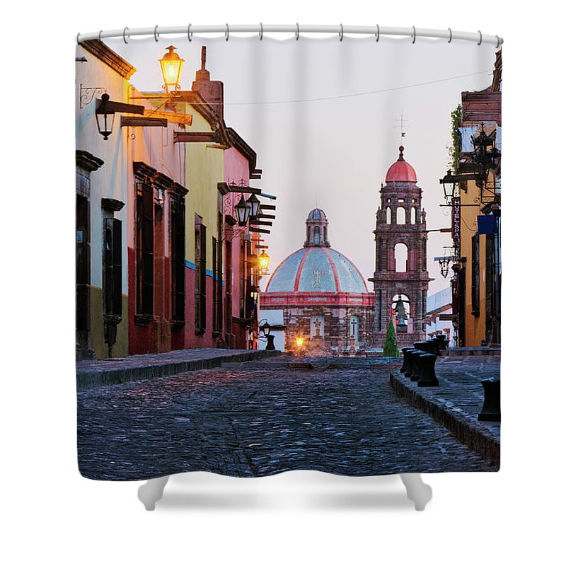 Latin America Shower Curtain featuring the photograph Church Of San Francisco, Looking Up by Jeremy Woodhouse