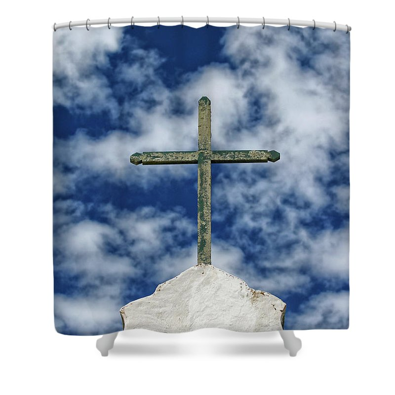 Bahia State Shower Curtain featuring the photograph Church Of St. John by Marcelo Nacinovic