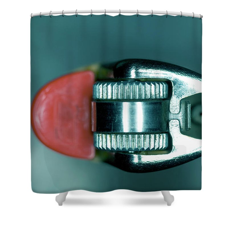 Cigarette Lighter Shower Curtain featuring the photograph Cigarette Lighter, Close-up by Michael Duva