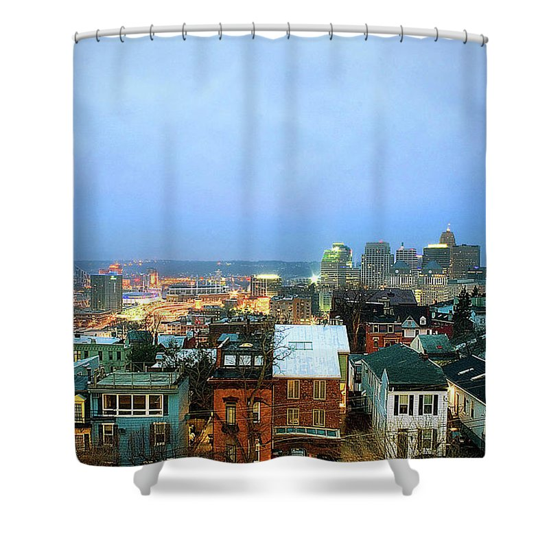 Tranquility Shower Curtain featuring the photograph Cincinnati Skyline by Keith R. Allen