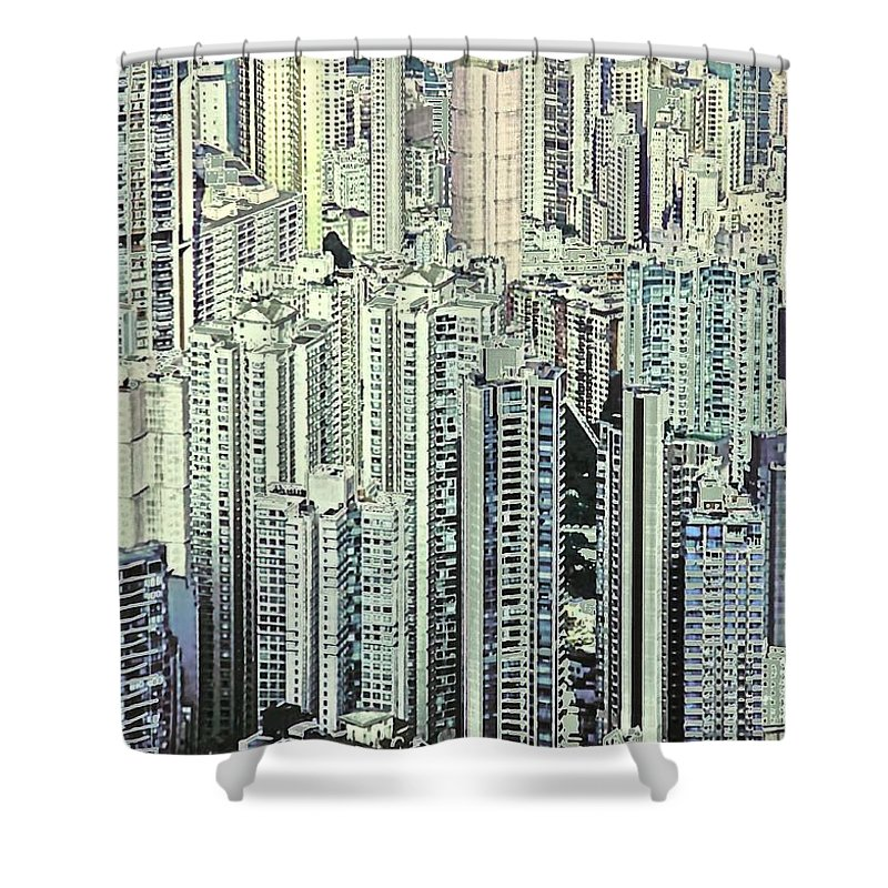 City Shower Curtain featuring the photograph City by Gillis Cone