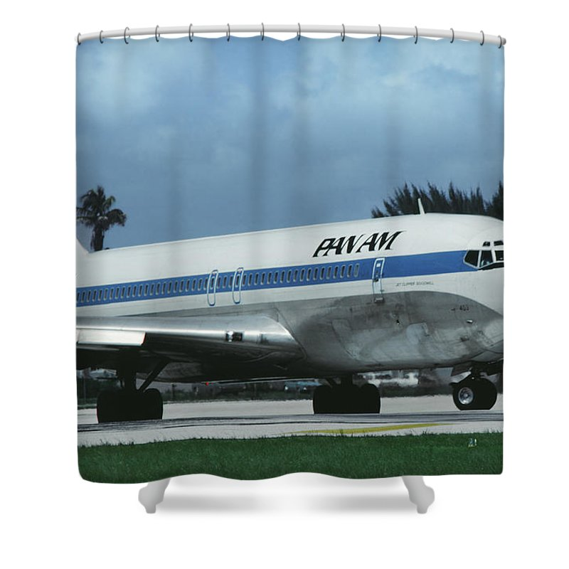 Classic Pan Am Boeing 707 Shower Curtain