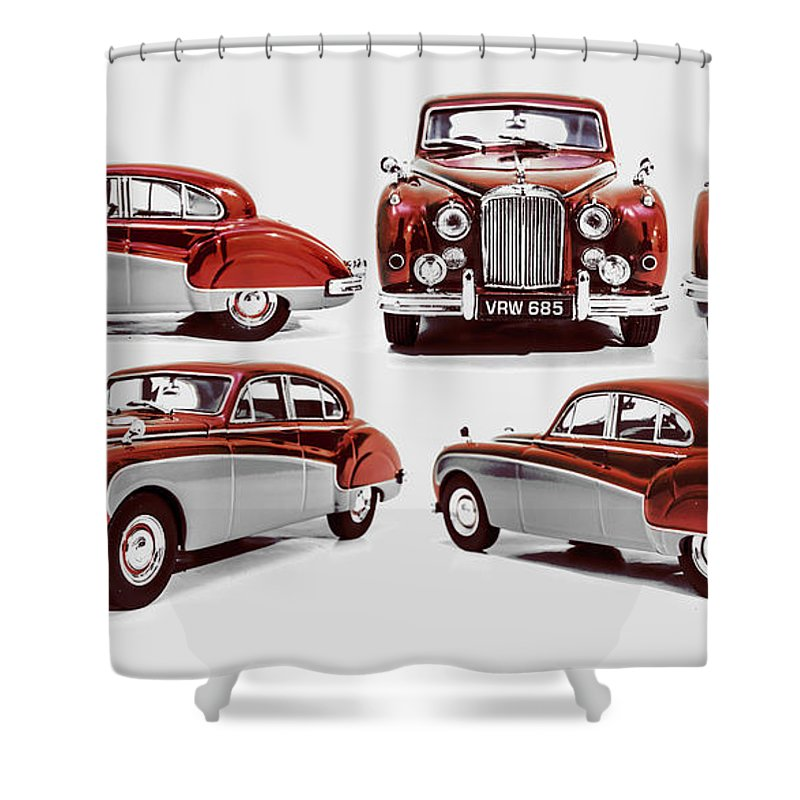 Jaguar Shower Curtain featuring the photograph Classically British by Jorgo Photography - Wall Art Gallery