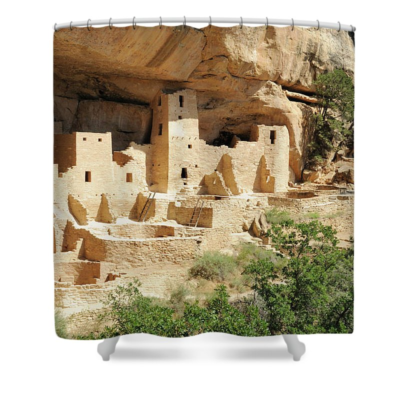 Mesa Verde National Park Shower Curtain featuring the photograph Cliff Palace In Mesa Verde, Colorado by Sshepard