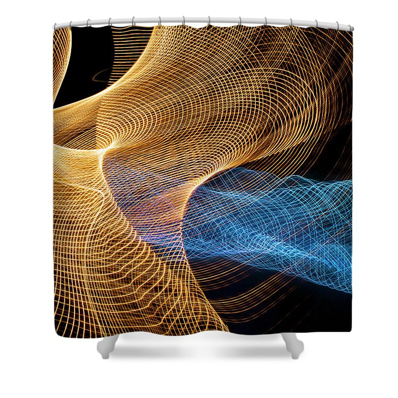 Internet Shower Curtain featuring the photograph Close Up Of Flowing Light Trails by John M Lund Photography Inc