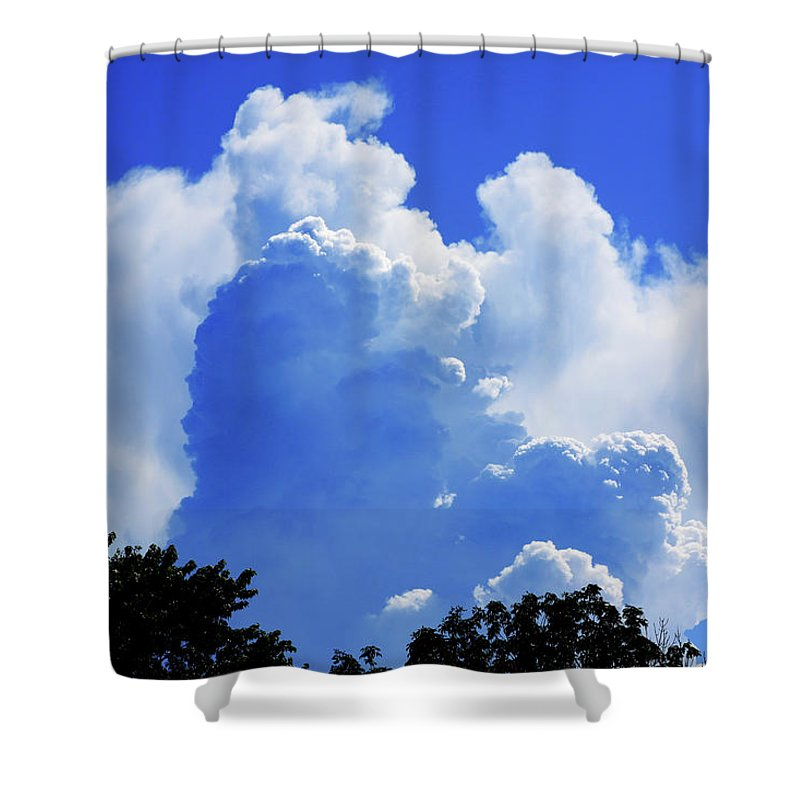Clouds Shower Curtain featuring the photograph Clouds one by John Lautermilch