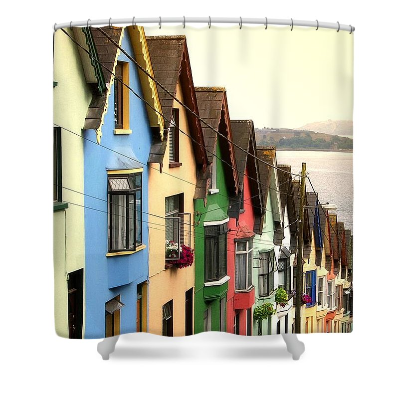 Electricity Pylon Shower Curtain featuring the photograph Cobh, Cork by Photo By Natale Carioni
