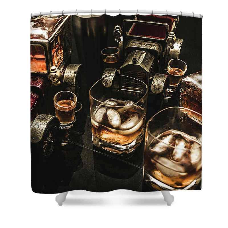 Beverage Shower Curtain featuring the photograph Cognac Cars by Jorgo Photography - Wall Art Gallery