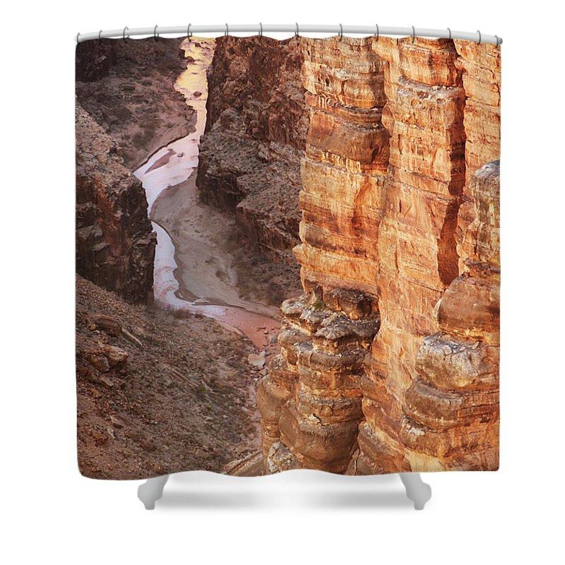 Water's Edge Shower Curtain featuring the photograph Colorado River Glen Canyon Gorge by Chuckschugphotography