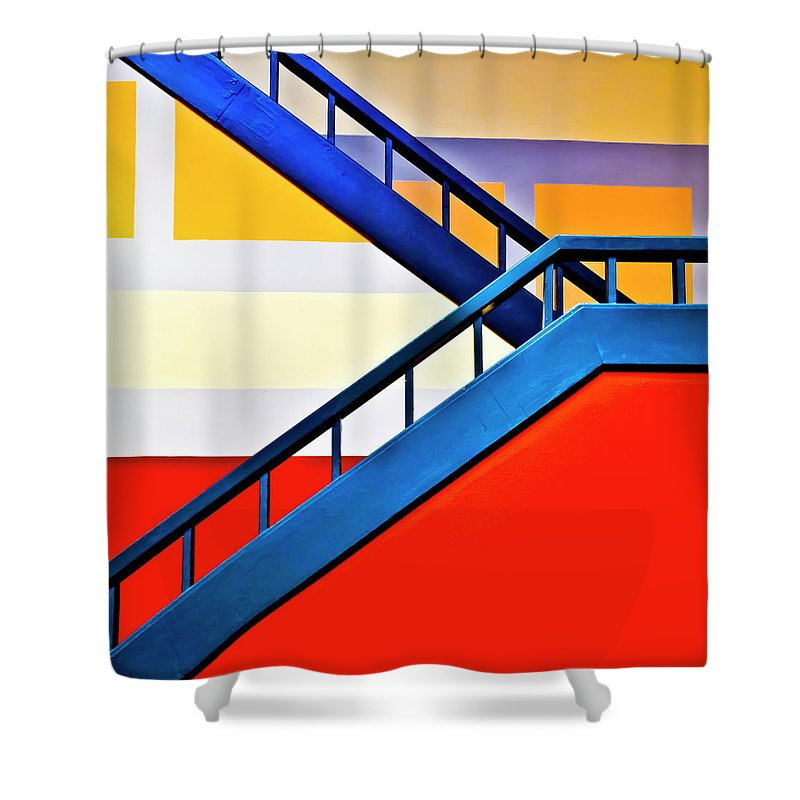 In A Row Shower Curtain featuring the photograph Colorful Climb by By Wesbs