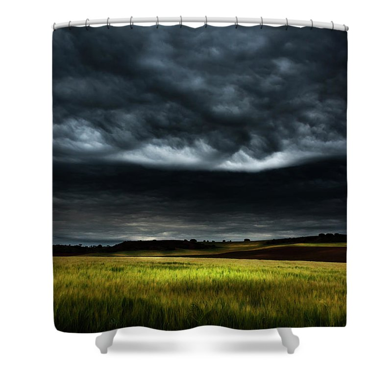 Nature Shower Curtain featuring the photograph Colorful Fields 3 by Vicente Sargues