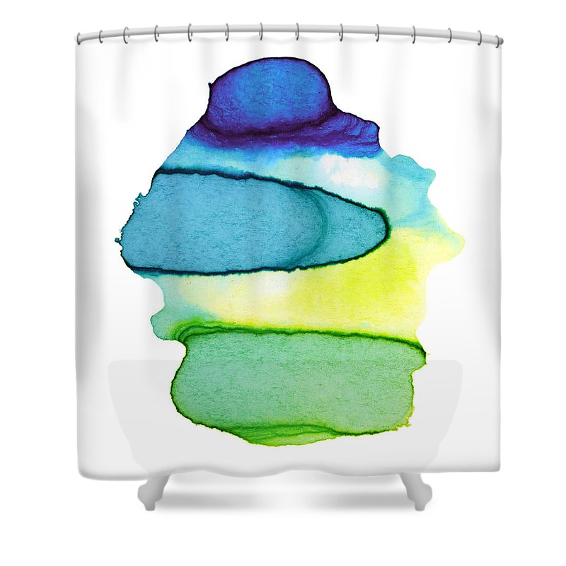 Watercolor Painting Shower Curtain featuring the digital art Colorful Watercolor Paint Paper Texture by 4khz