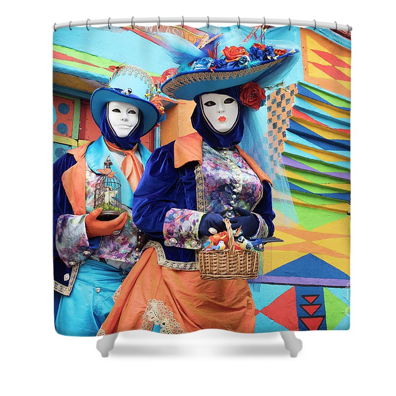 Carnival Shower Curtain featuring the photograph Colors Of Carnival by Linda D Lester