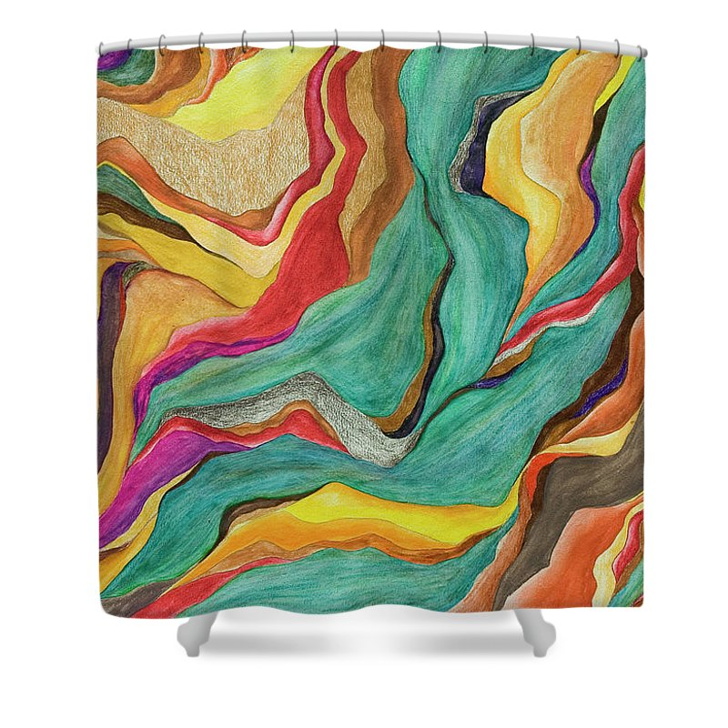 Art Shower Curtain featuring the digital art Colors Of Humanity Series by Marthadavies