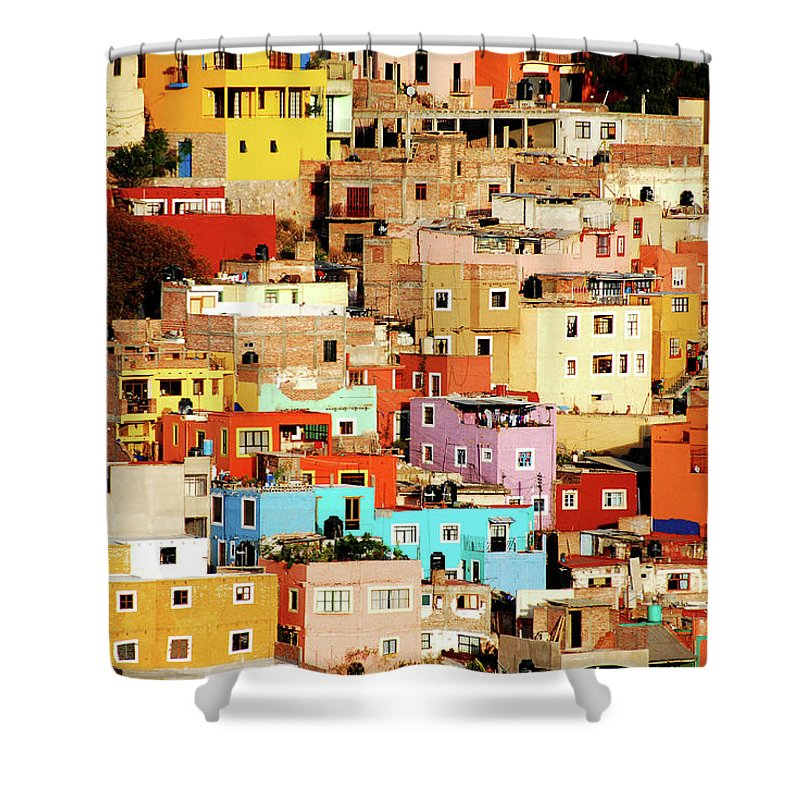 Tranquility Shower Curtain featuring the photograph Colors On Hill by Nan Zhong