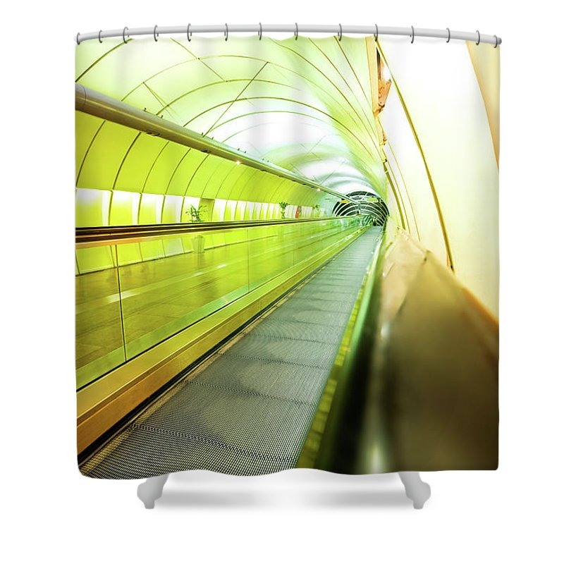 Pedestrian Shower Curtain featuring the photograph Colourful Walkway by Nikada