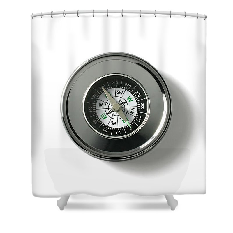 East Shower Curtain featuring the photograph Compass by Blackred