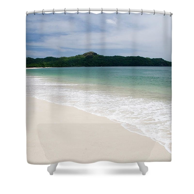 Vacations Shower Curtain featuring the photograph Costa Rica White Sand Beach 1 by Artedetimo