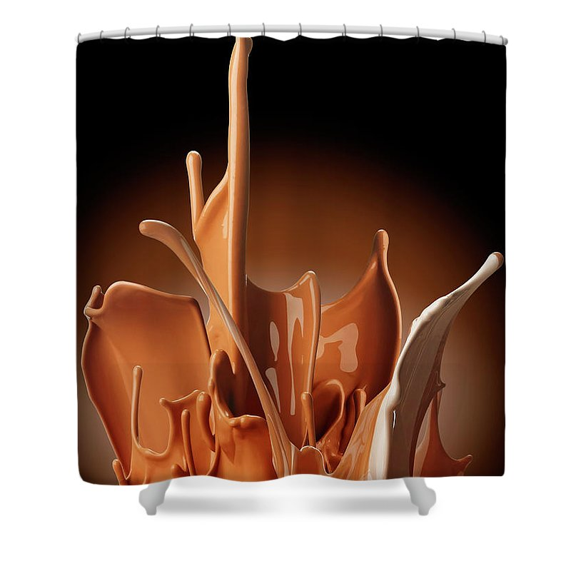 California Shower Curtain featuring the photograph Creme Brulee Splash by Jack Andersen