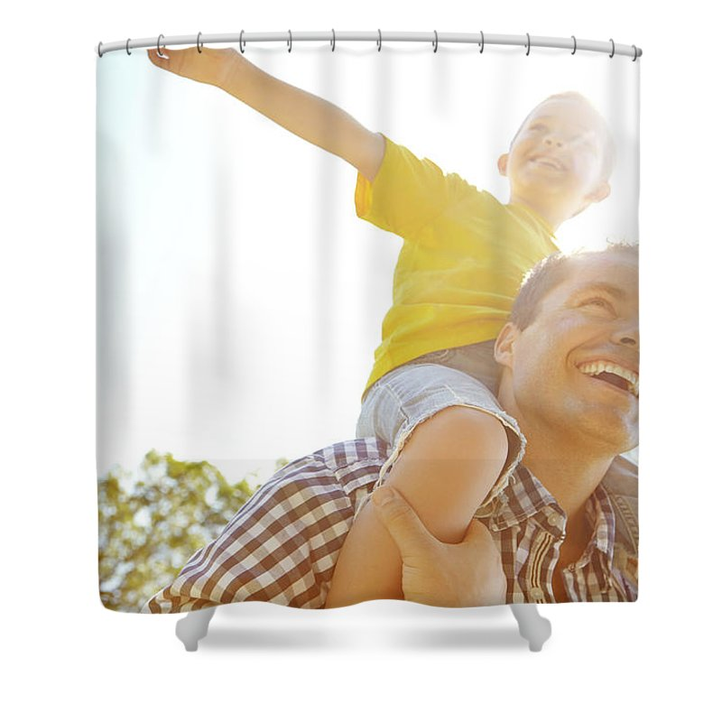 Human Arm Shower Curtain featuring the photograph Dad Makes Me Feel Like I Can Fly by Gradyreese