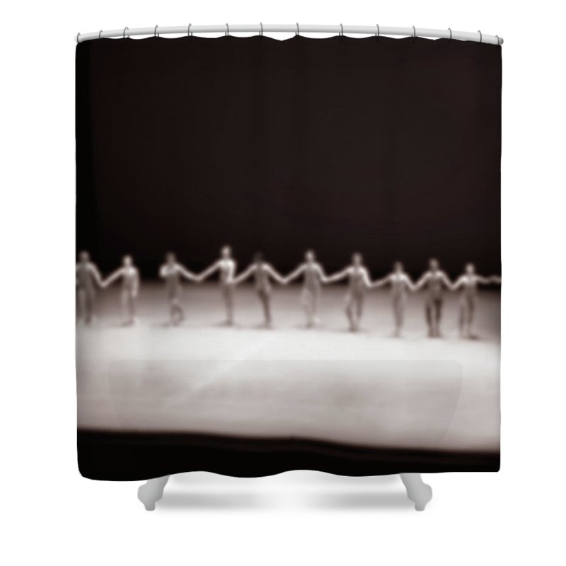 Ballet Dancer Shower Curtain featuring the photograph Dancers On Stage by Grant Faint