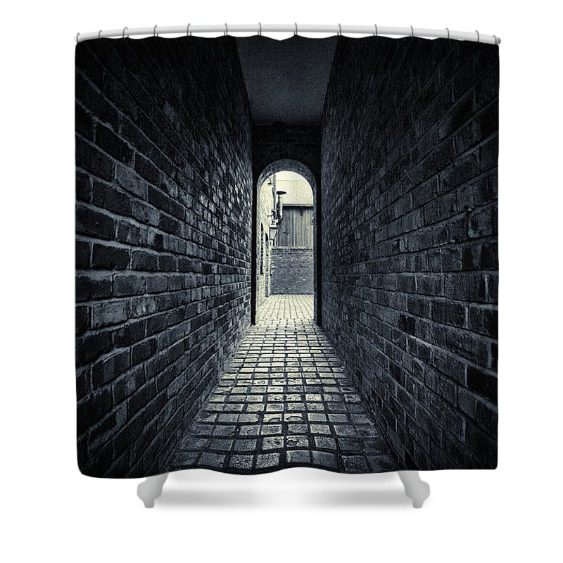 Horror Shower Curtain featuring the photograph Dark Alley by Duncan1890