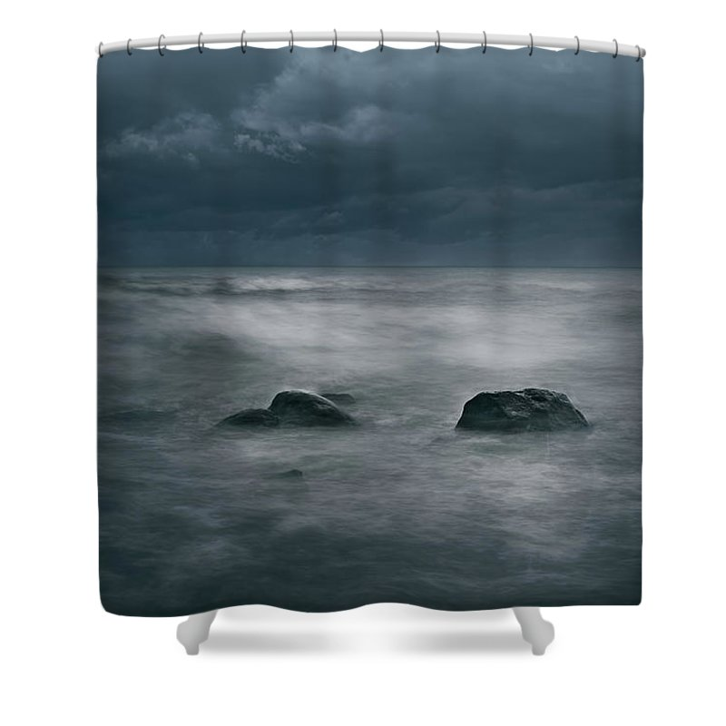 Dark Shower Curtain featuring the photograph Dark And Stormy by Scott Norris