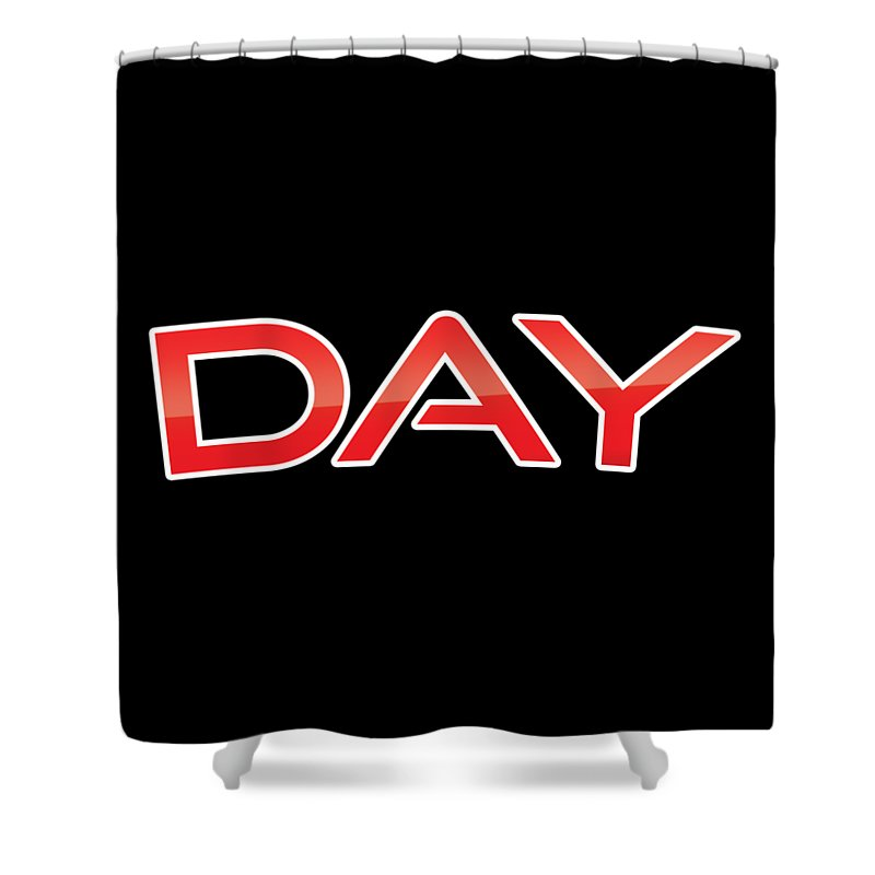 Day Shower Curtain featuring the digital art Day by TintoDesigns