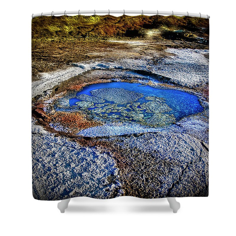 Tranquility Shower Curtain featuring the photograph Dead Sea Sink Holes by Photostock-israel