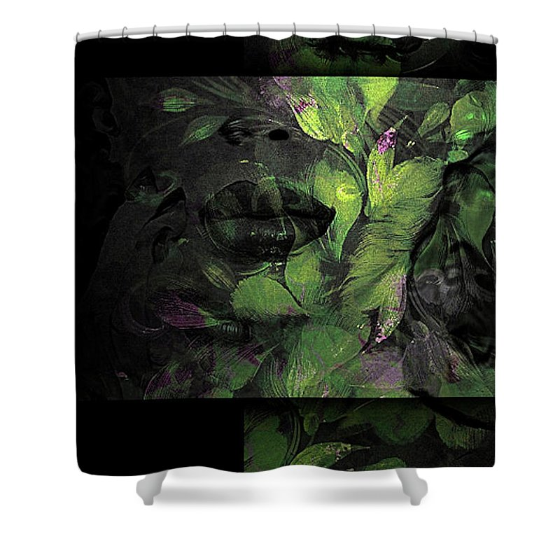 Contemporary Shower Curtain featuring the mixed media Defined Beauty 02 by G Berry