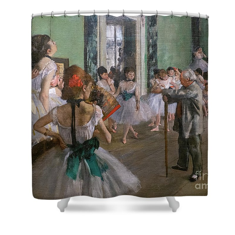 Dance Shower Curtain featuring the painting Degas, The Dance Class Detail by Edgar Degas