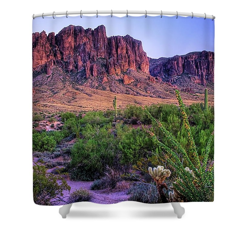 Tranquility Shower Curtain featuring the photograph Desert Trail by Patti Sullivan Schmidt