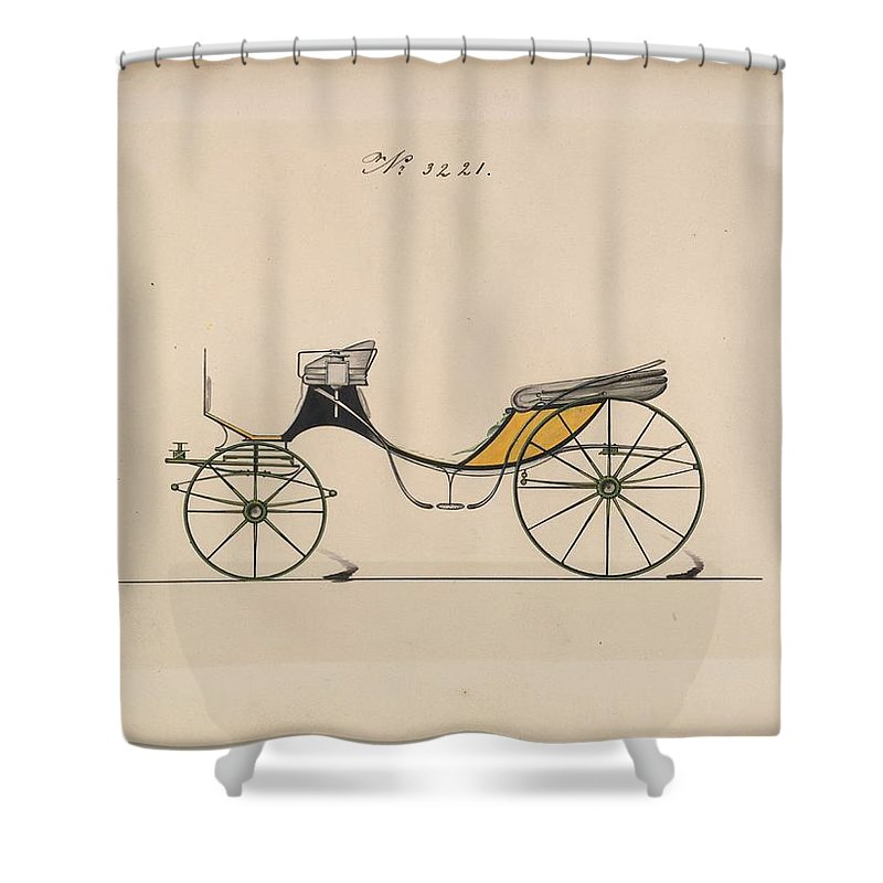 Vintage Shower Curtain featuring the painting Design For Cabriolet Or Victoria, No. 3221 Brewster And Co. American, New York by Brewster and Co