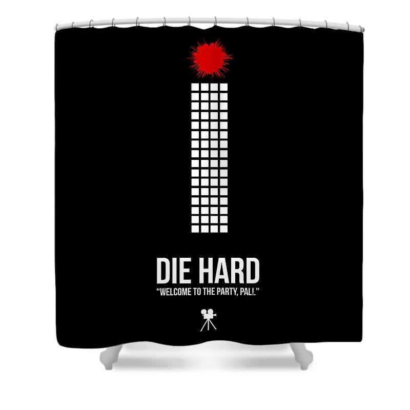 Die Hard Shower Curtain featuring the digital art Die Hard by Naxart Studio